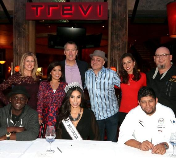 Back Row: Kim Wagner, Olivia Fierro, John Huck, Doug Elfman, Jessica Janner and Chef Peter Scatturo; Front Row: Sean E. Cooper, Brittany McGowan and Chef Jose Navarro