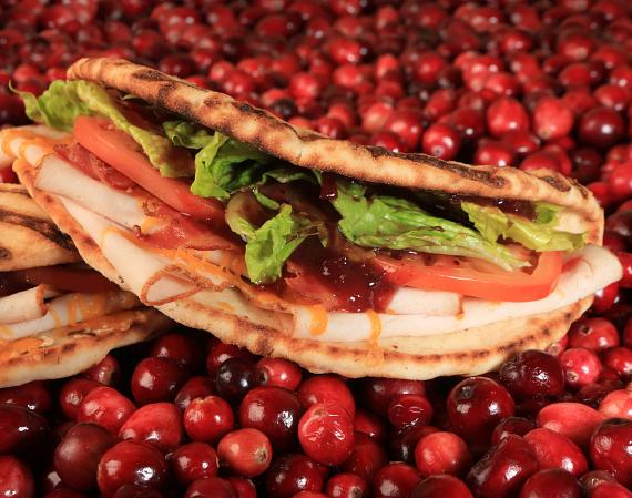 Chipotle Cranberry Turkey Club Flatbread