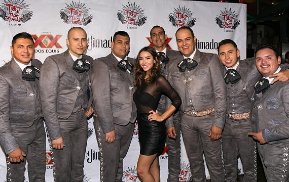 Michele Maturo with Mariachi Los Toros at Tacos & Tequila
