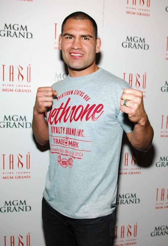 Cain Velasquez arrives at Tabú