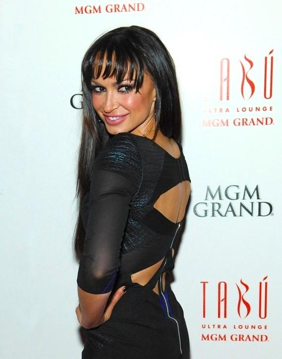 Karina Smirnoff on red carpet at Tabú