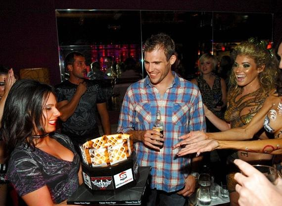 Ryan Couture with Birthday Cake
