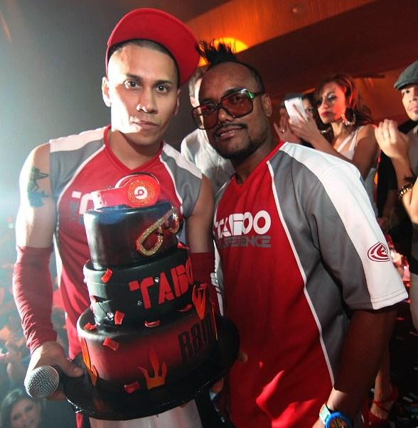 Taboo and Apl.de.ap with birthday cake