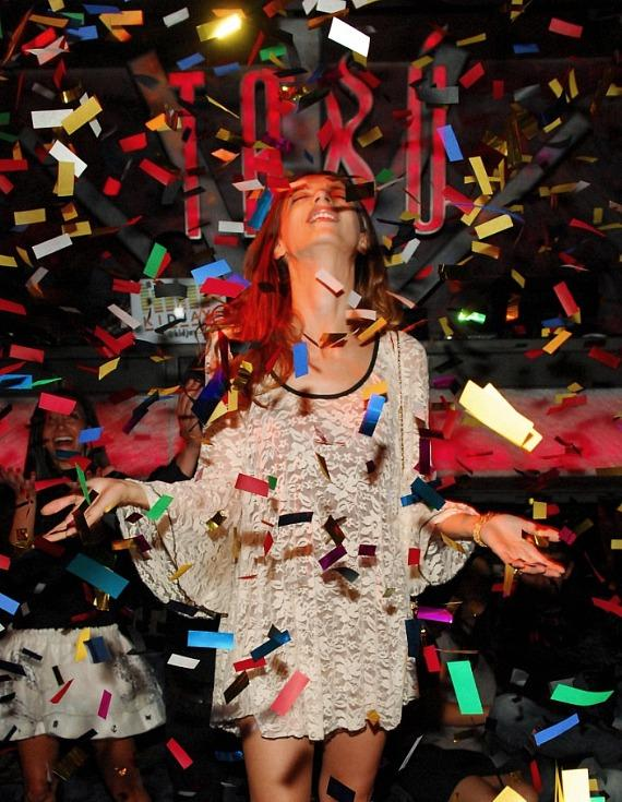 Angela Sarafyan in Confetti at Tab