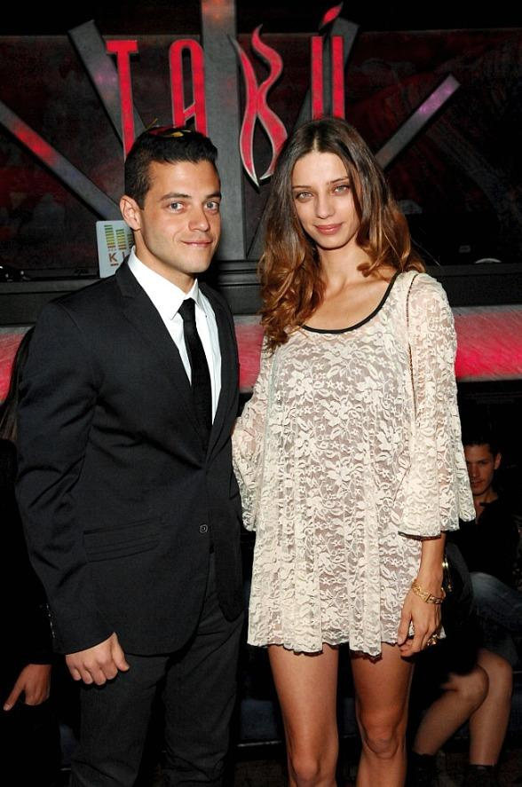 Rami Malek and Angela Sarafyan Inside Tab