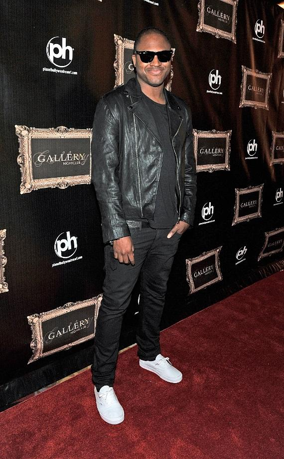Taio Cruz walks the red carpet at Gallery Nightclub inside Planet Hollywood Resort & Casino