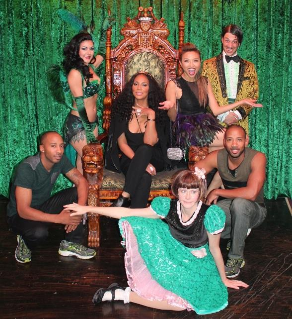 "Tamar Braxton and Jeannie Mai of ""The Real"" Attend ABSINTHE at Caesars Palace"
