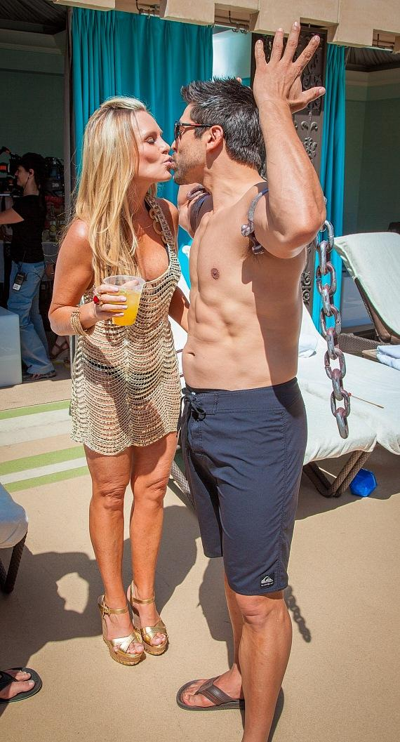 Tamra Barney and Eddie Judge at Azure Luxury Pool