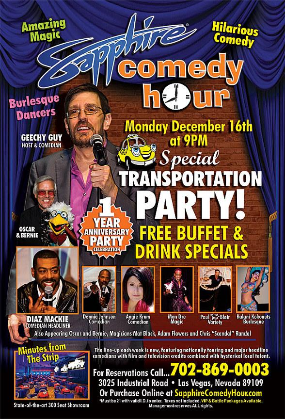 Geechy Guy to Headline Sapphire Comedy Hour One Year Anniversary at Sapphire Las Vegas Dec. 16