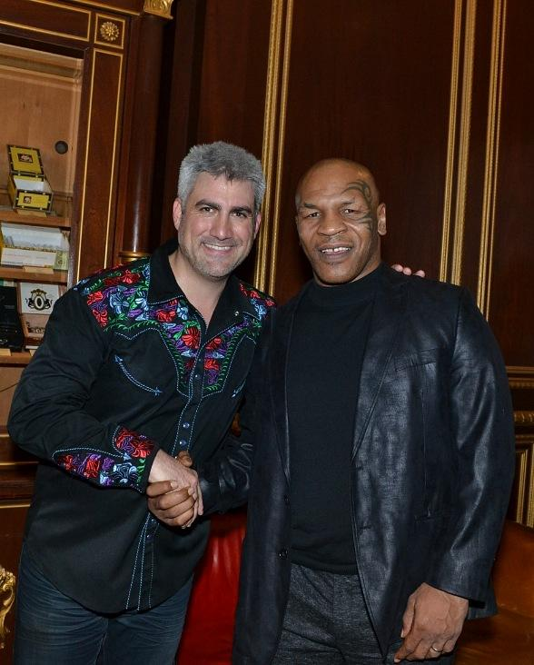 Mike Tyson Attends Taylor Hicks