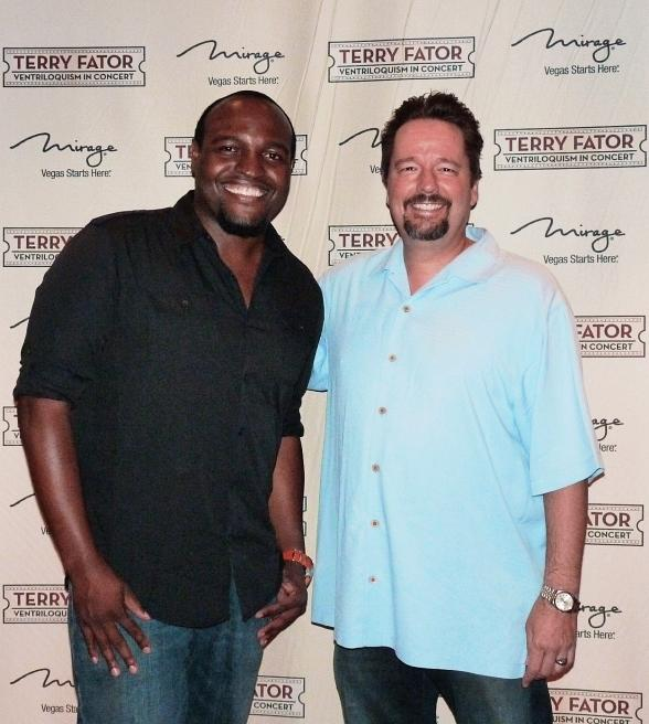 America's Got Talent's Robert Hatcher Visits Terry Fator's Show at The Mirage