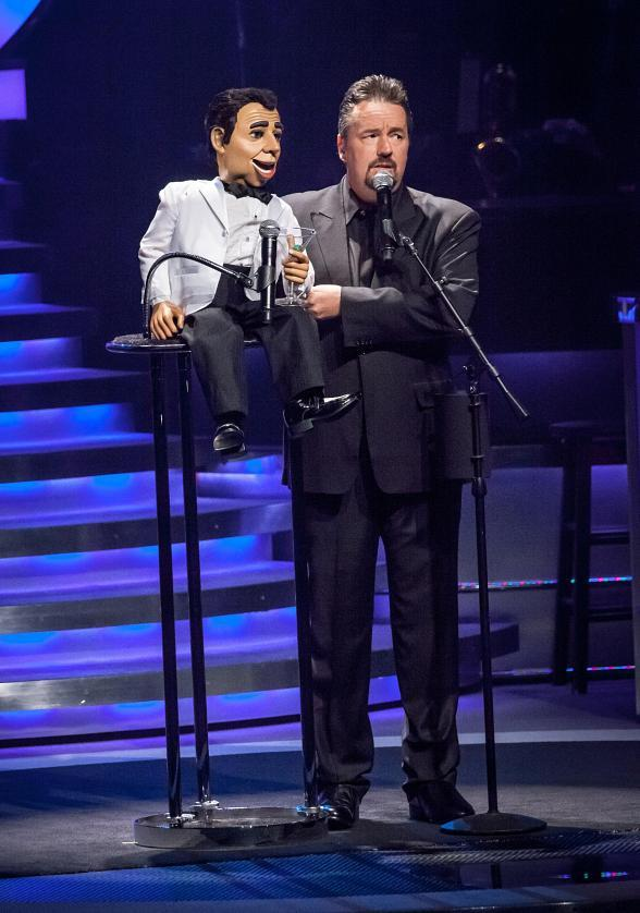 Terry Fator and Monty Carlo