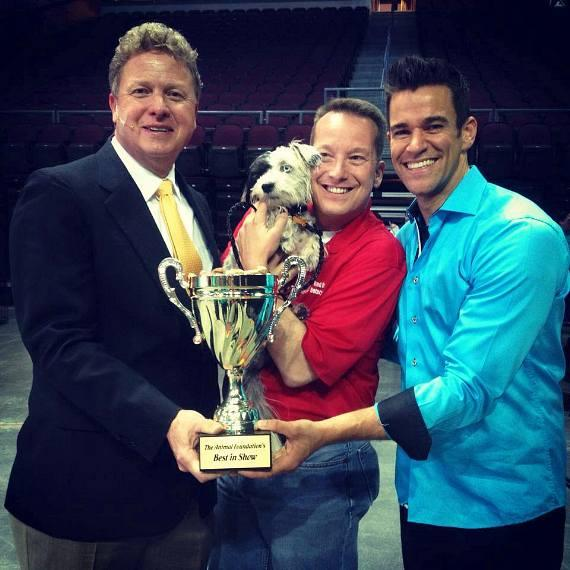 The Animal Foundation's 11th Annual Best In Show Winner Jackson poses with his trophy