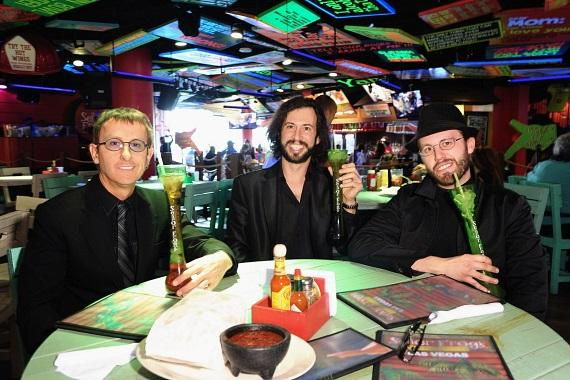 The Australian Bee Gees Enjoying Margaritas at Senor Frog's Las Vegas