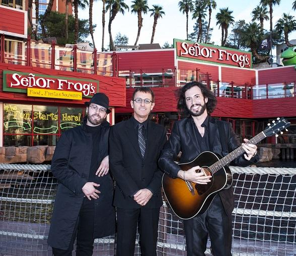 The Australian Bee Gees in Front of Senor Frog's Las Vegas