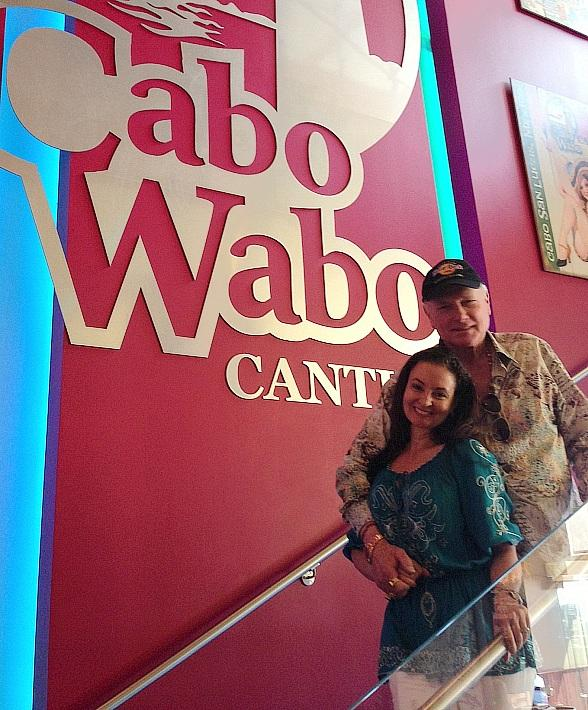 Mike Love and his wife, Jacqueline Love, at Cabo Wabo Cantina