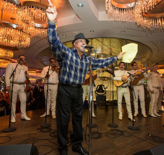 Fabulous The Cosmopolitan of Las Vegas performs the official Grito Mexicano at The Chandelier