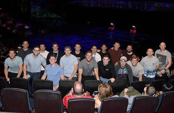 The English Rugby Team at Mystere