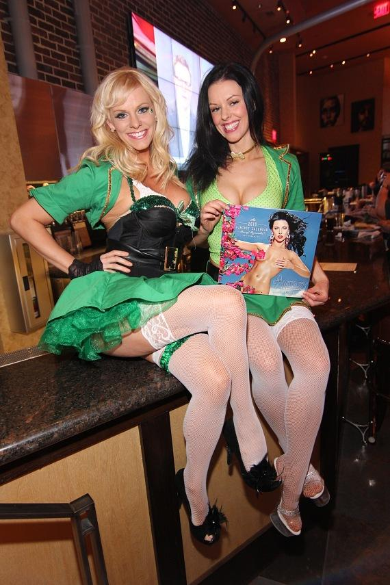 Dar and Tracey of FANTASY celebrate St. Patrick's Day at Public House Las Vegas
