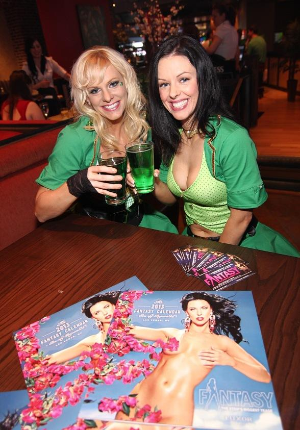 Dar and Tracey of FANTASY enjoy green beer at Public House Las Vegas