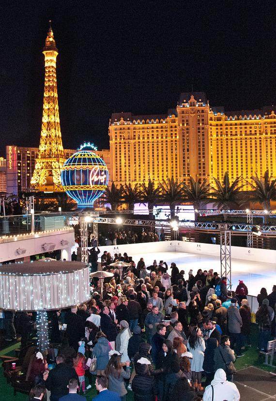 The Ice Rink at The Cosmopolitan of Las Vegas on NYE