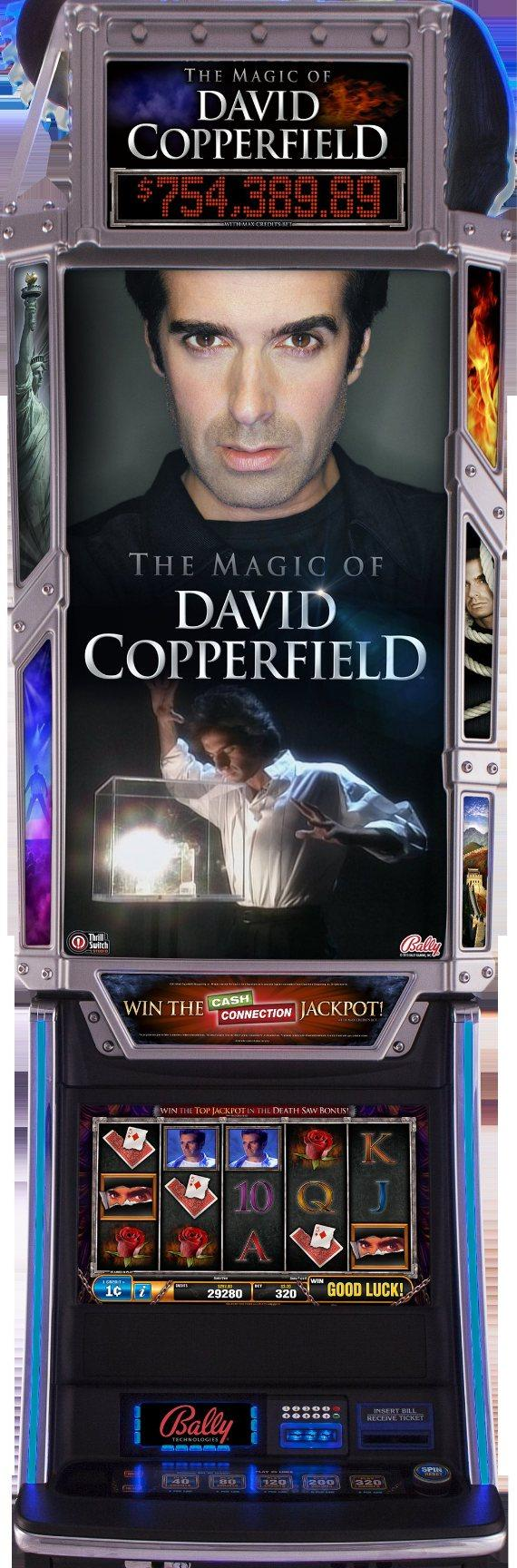 illusionist david copperfield unveils the magic of david bally technologies slot machine the magic of david copperfield