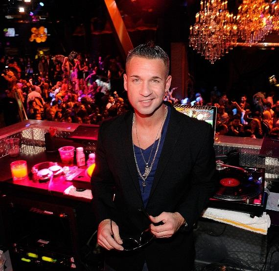 "Mike ""The Situation"" Sorrentino in the DJ booth at Chateau Nightclub & Gardens at Paris Las Vegas"