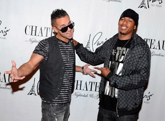 """""""The Situation"""" and Nick Cannon walk the red carpet at Chateau Nightclub & Gardens"""
