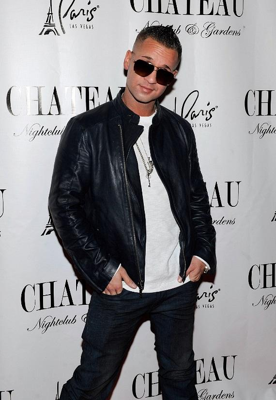 "Mike ""The Situation"" Sorrentino on the red carpet at Chateau Nightclub & Gardens"