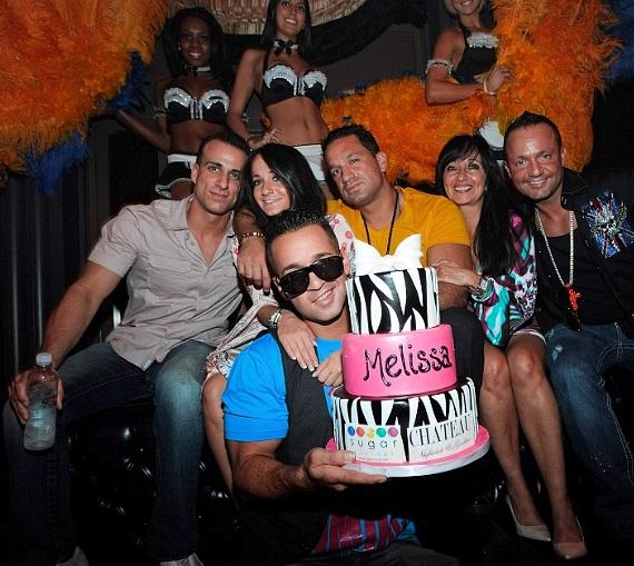 """""""The Situation"""" and Sorrentino family celebrate Melissa Sorrentino's birthday at Chateau Nightclub & Gardens at Paris Las Vegas"""