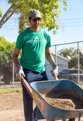 The Venetian Team Members Build Garden Classroom at Helen Herr Elementary School