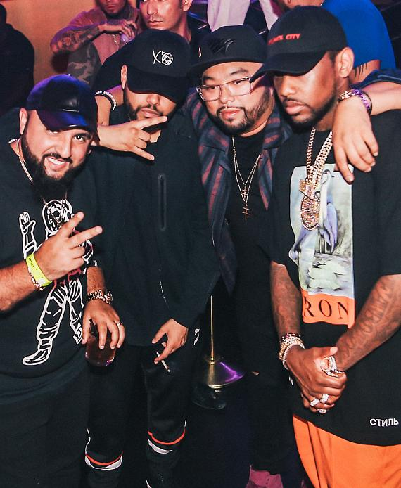 The Weeknd Attends Fabolous' Performance at Drai's Nightclub Las Vegas