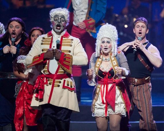 The cast of Phantom The Las Vegas Spectacular hit the stage at Golden Rainbow's Ribbon of Life