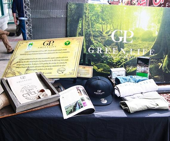 Green Life Booth at The+Source Grand Opening Event