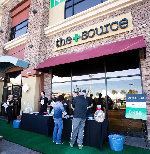 Guests check in at The+Source