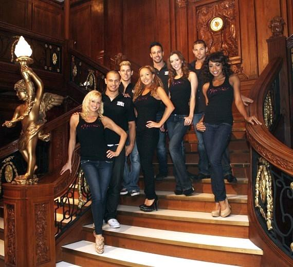 Thunder From Down Under and Fantasy Girls on Grand Staircase at Titanic: The Artifact Exhibition