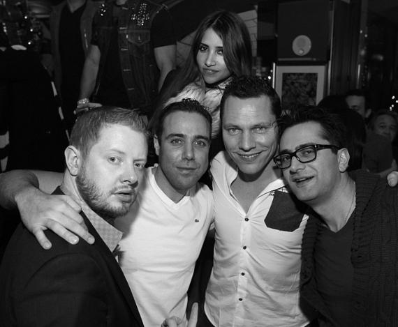 Tiesto and friends celebrating at Hyde Bellagio