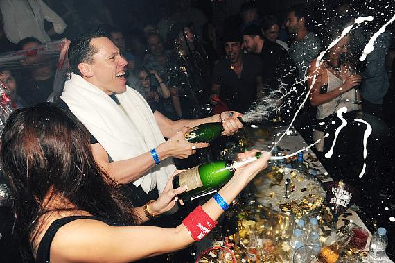 Tiesto's Champagne Shower