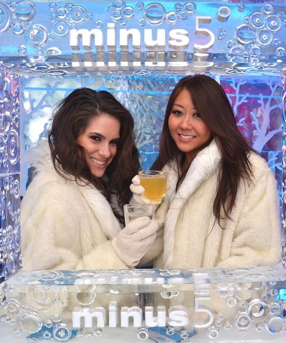 Poker Star Tiffany Michelle Celebrates Vegas Birthday with Shawn Marion, Maria Ho and Friends at Minus 5 Ice Bar