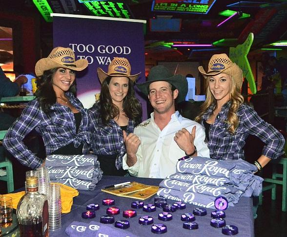 Tilden Hooper with Crown Royal girls at Senor Frog