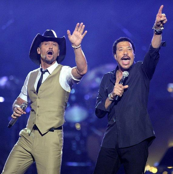 Tim McGraw and Lionel Richie