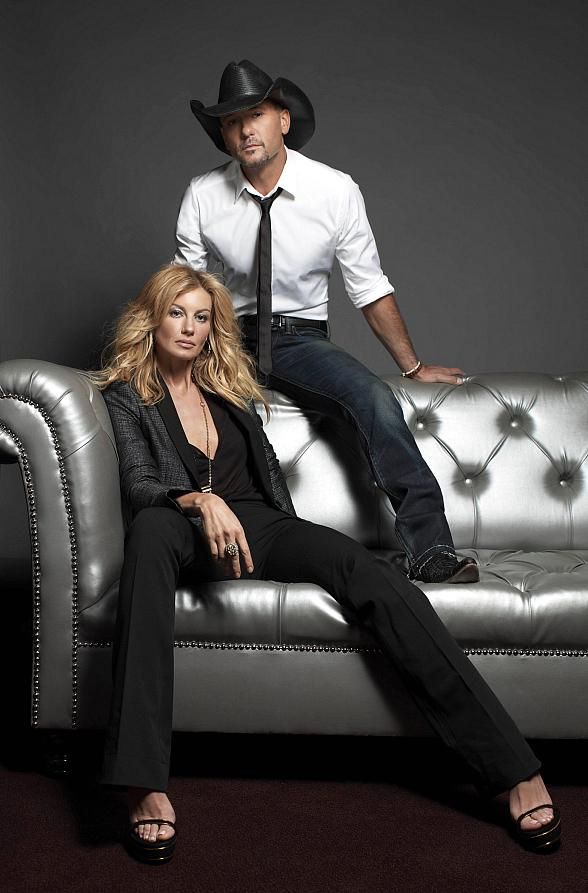 Country music superstars Tim McGraw and Faith Hill, at The Venetian Las Vegas