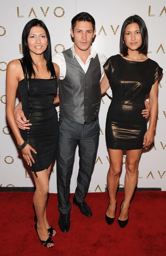 Tinsel Korey, Alex Meraz and Julia Jones on LAVO red carpet