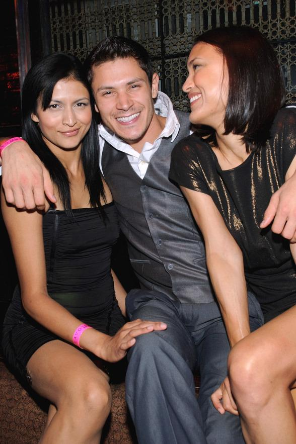 Tinsel Korey, Alex Meraz, Julia Jones inside LAVO