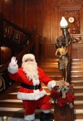 "Santa Spreads Holiday Cheer at ""Titanic: The Artifact Exhibition"" inside Luxor Hotel and Casino"