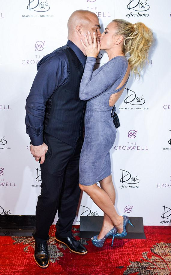 Tito Ortiz and Amber Nichole Miller Arrive at Drai's Nightclub Las Vegas