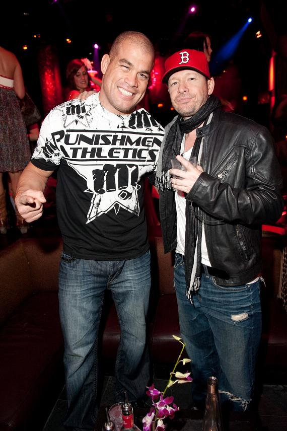 Tito Ortiz and Donnie Walhlberg at TAO