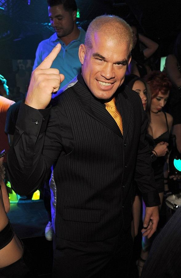 Tito Ortiz celebrates his UFC 132 win at his official after-party at Gallery Nightclub in Las Vegas