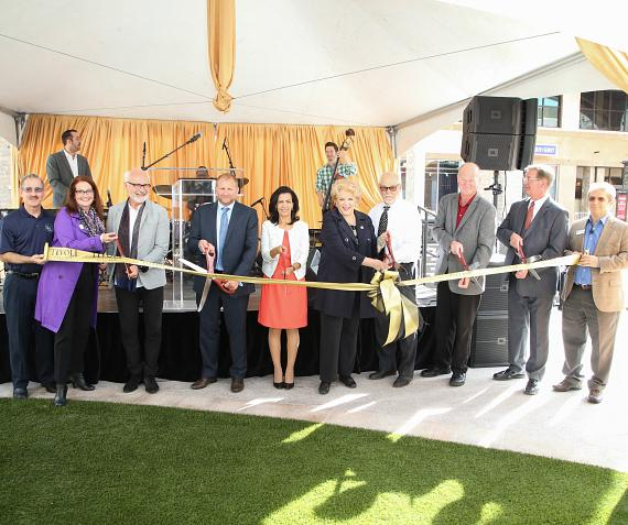 Tivoli executives and public officials join together for ribbon cutting ceremony to officially open phase two of the property