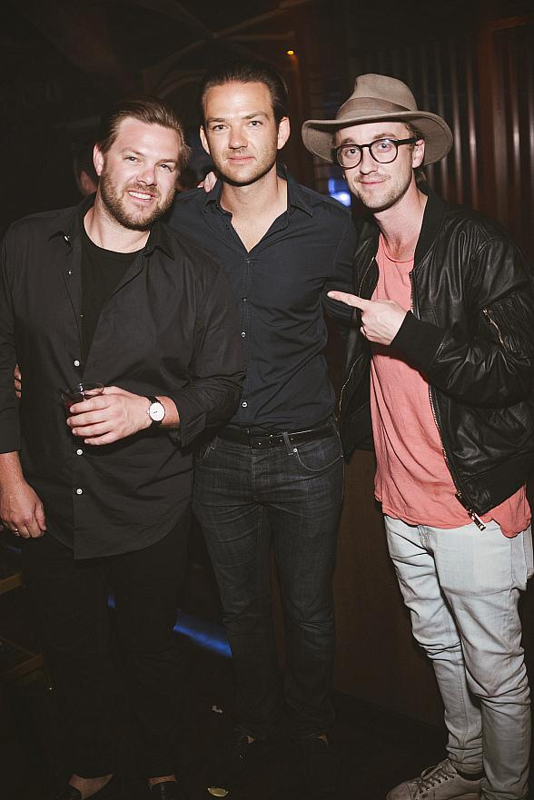 "Actor Tom Felton of ""Harry Potter"" Spotted at Hakkasan Nightclub Las Vegas"